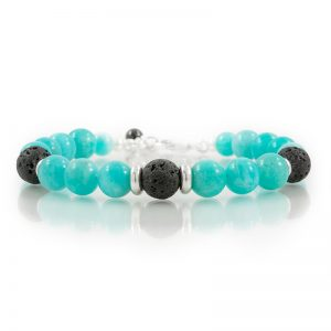 amazonite essential oil diffuser bracelets for charity