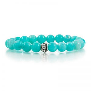 amazonite gemstone stretch bracelets for charity