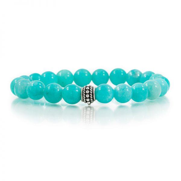 amazonite gemstone stretch bracelets for charity