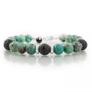 chrysocolla essential oil diffuser bracelets for charity