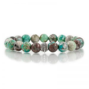 chrysocolla gemstone stretch bracelets for charity
