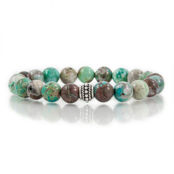 chrysocolla gemstone stretch bracelets for charity