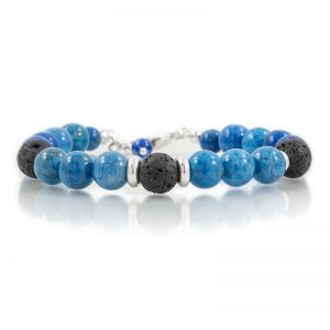 lapis essential oil diffuser bracelets for charity