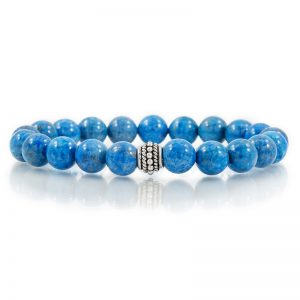 lapis gemstone stretch bracelets for charity