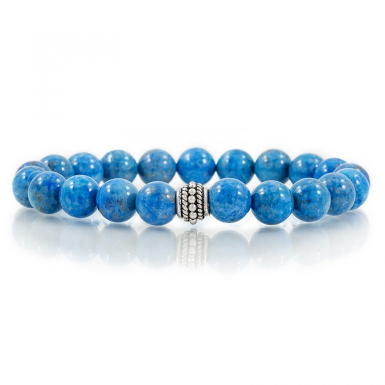 lapis gemstone stretch bracelets for charity