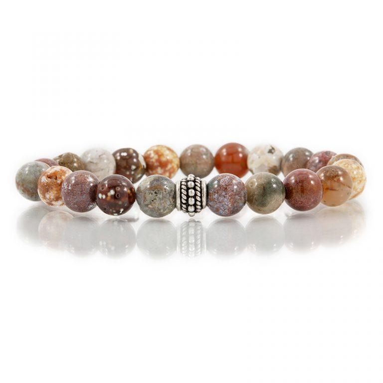 ocean jasper gemstone stretch bracelets for charity