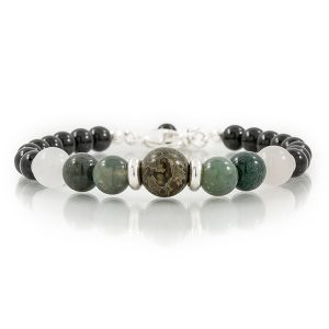 STERLING LOBSTER CLASP GEMSTONE BRACELETS