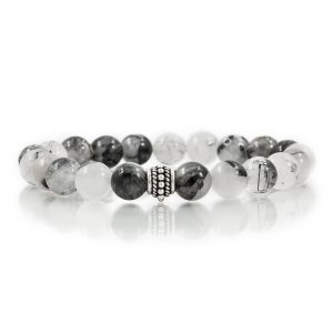 tourmalated quartz gemstone stretch bracelets for charity