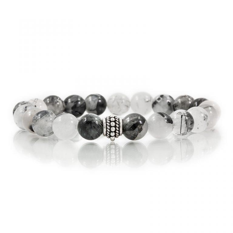 tourmalated quartz gemstone stretch bracelets for charity