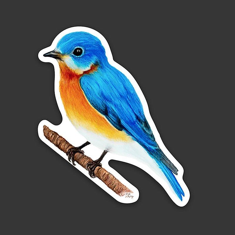 Eastern-Bluebird-Sticker-original-art-left-kyle-mckey copy