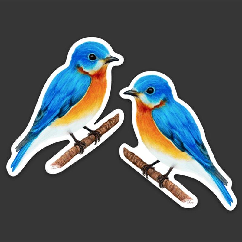 Eastern-Bluebird-of-Happiness-Decal-Sticker-Set-Bird-Gift-Kyle-Mckey
