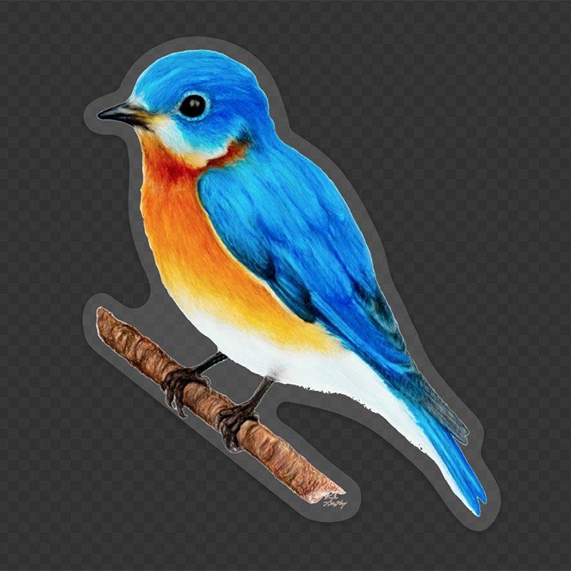 Eastern-bluebird-original-art-left-clear-kyle-mckey-AC