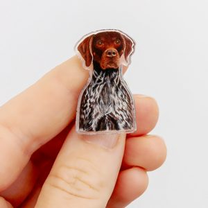 German Shorthaired Pointer Pin. GSP gift for Dog lovers