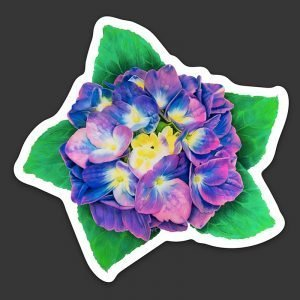 Hyrangea Flower Decal Waterproof Vinyl Sticker Gift for flower lovers
