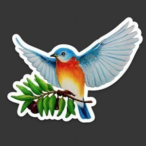 Eastern Bluebird of Peace Happiness Decal