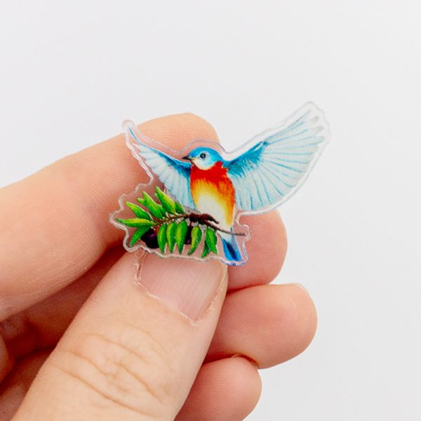 Eastern Bluebird of Peace & Happiness Pin