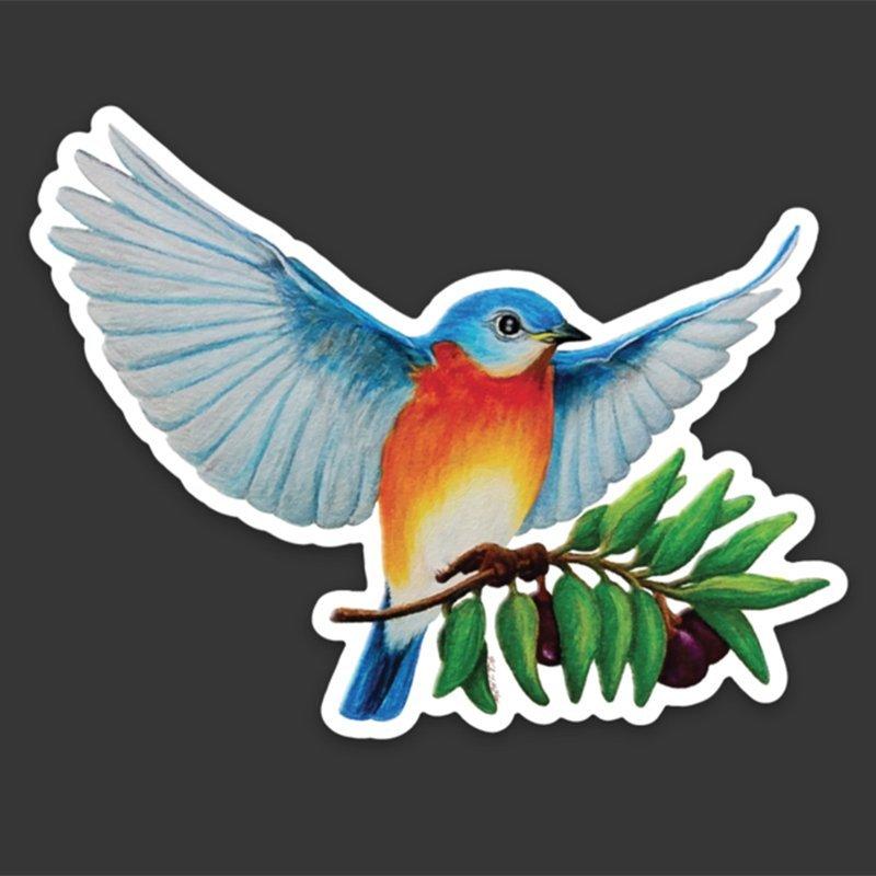 Western-Bluebird-Sticker-Peace-original-art-right-kyle-mckey